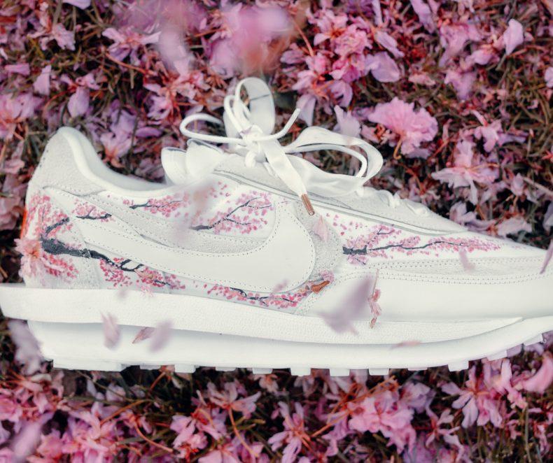 "Egyedi sneaker design: Nike X Sacai Waffle ""Sakura"" a DKC-től"