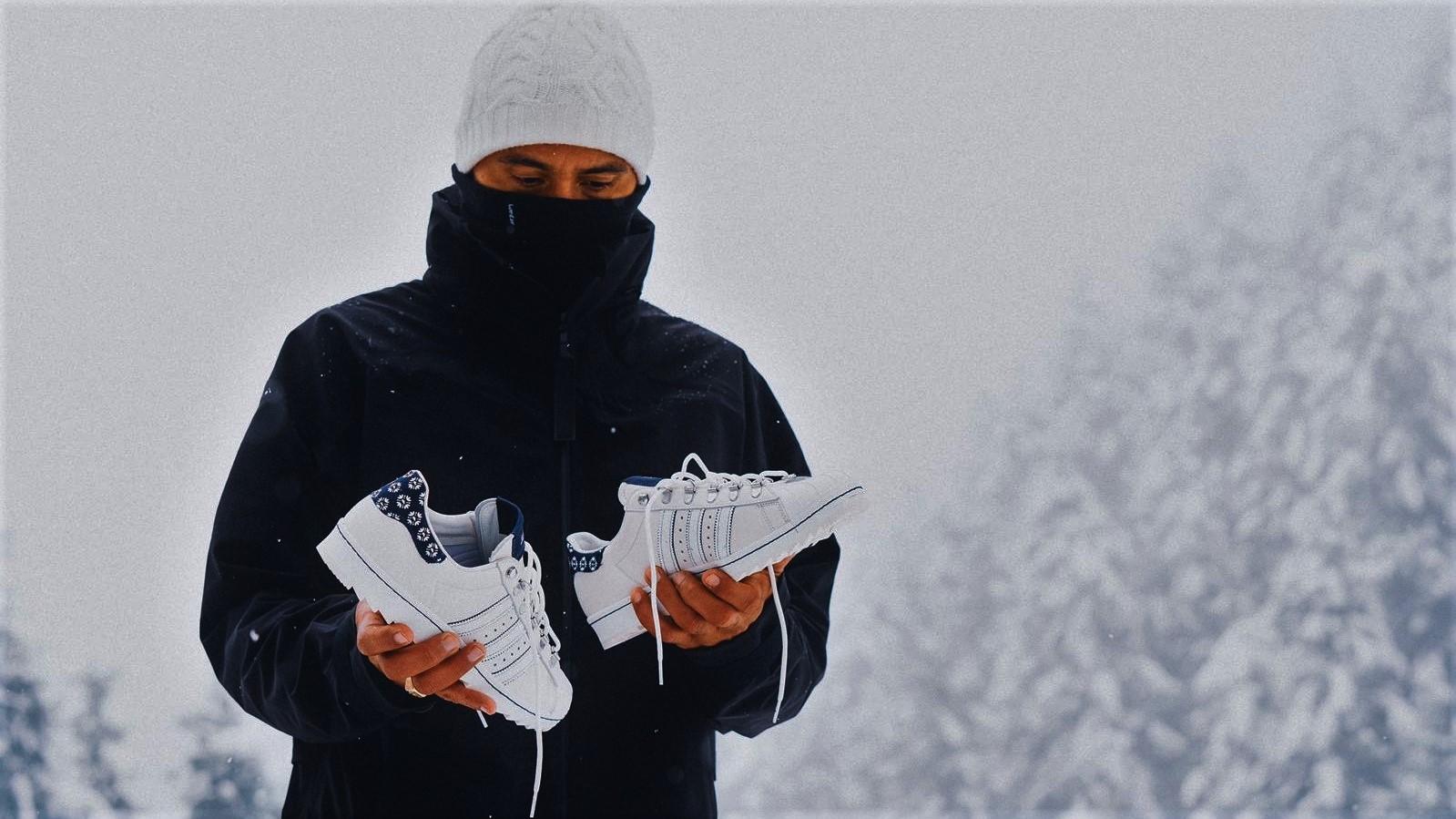 Editorial: Footshop x adidas Superstar 'Blueprinting' on the snow